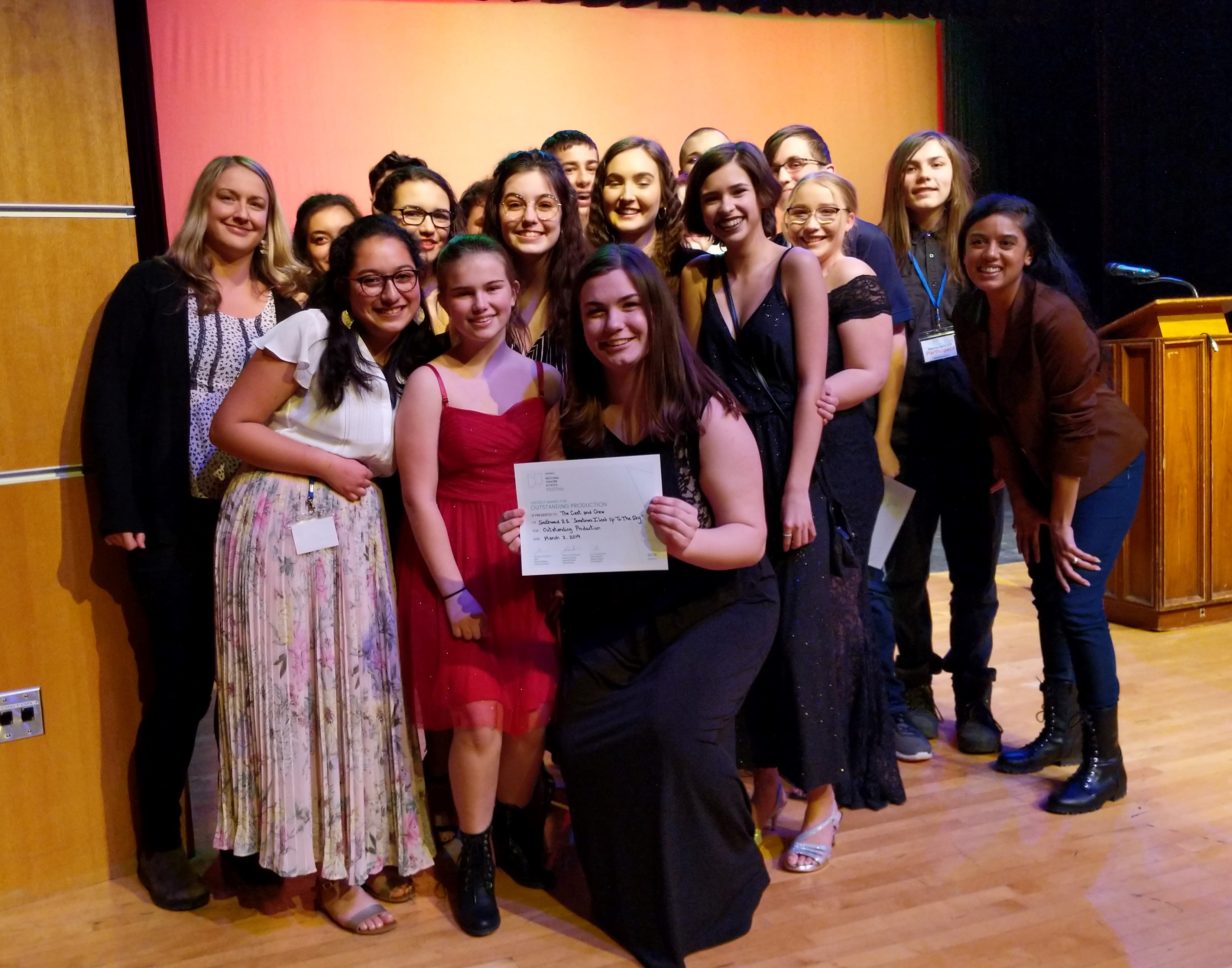 Southwood Drama Club Wins 5 Awards and Moves on to Regionals